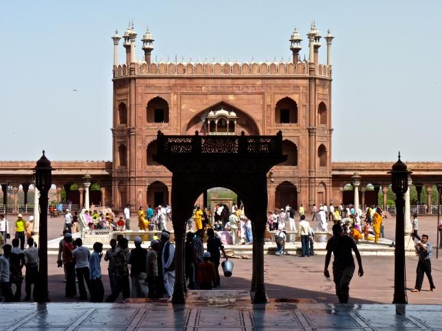 The Jami Masjid mosques' impressive courtyard.