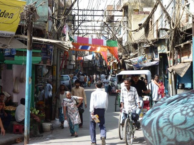 street scene delhi