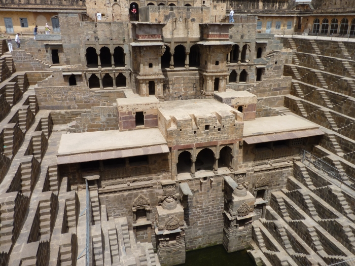 The Chand Baori Stepwell reveals itself.