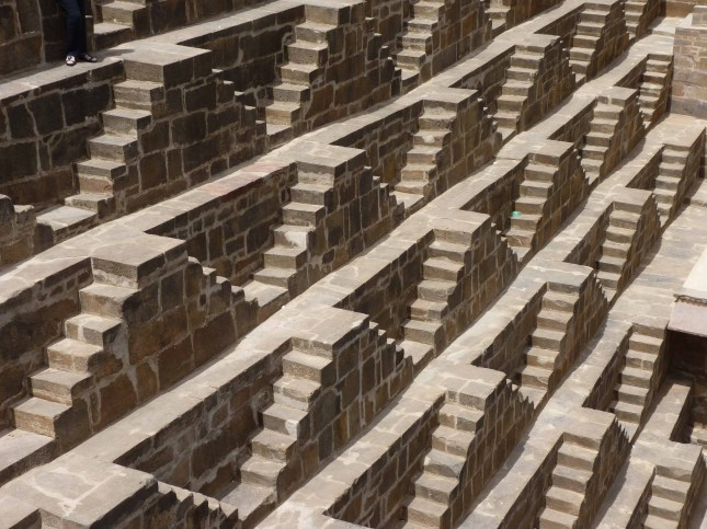 Some of the 3500 steps at Chand Baori.