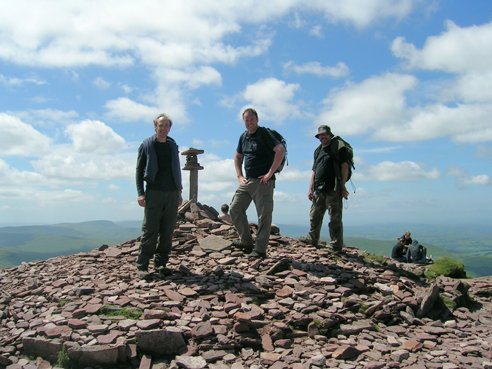 On the Summit. Pen y Fan at 886 metres (2907 ft).