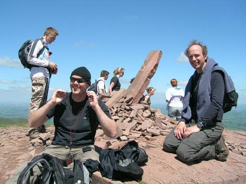 On the summit of Cribyn.