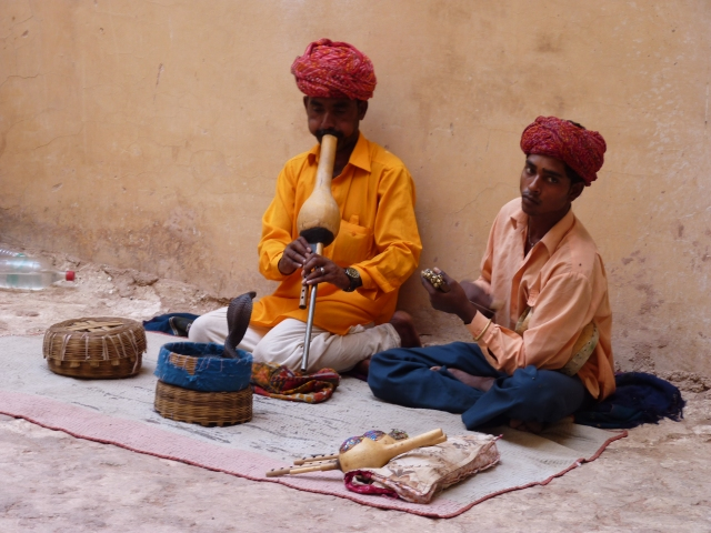 Snake-Charmers inside The Amber Fort.