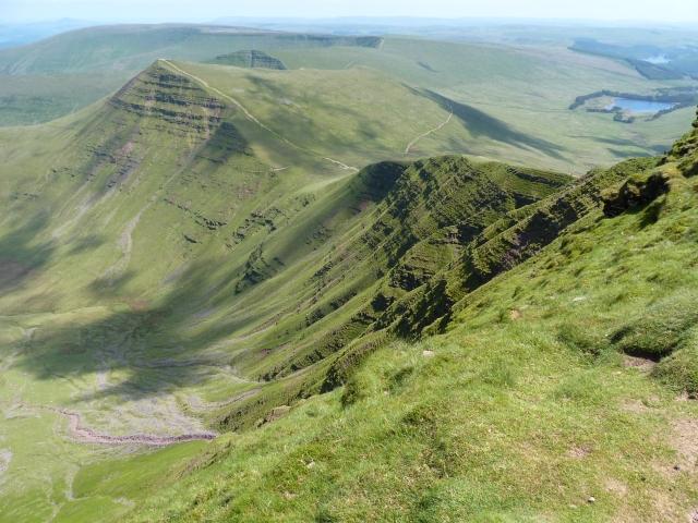 The Brecon Beacons main ridge.