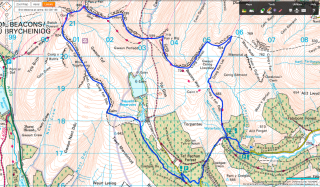 Neuadd Horseshoe Route Map
