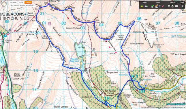 Neuadd Horseshoe Route Map