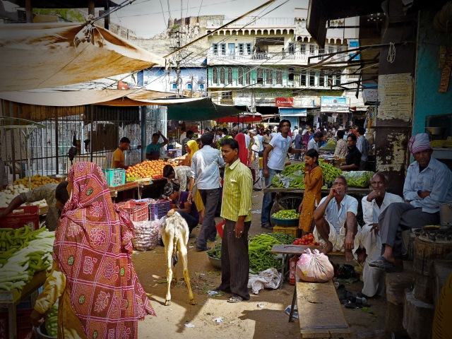 The warren of alleyways that make up Kuchaman market.