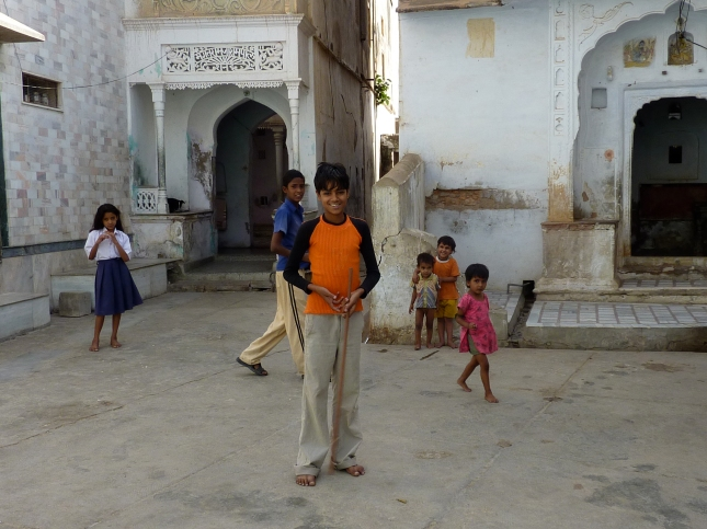Local kids that followed us around the streets.
