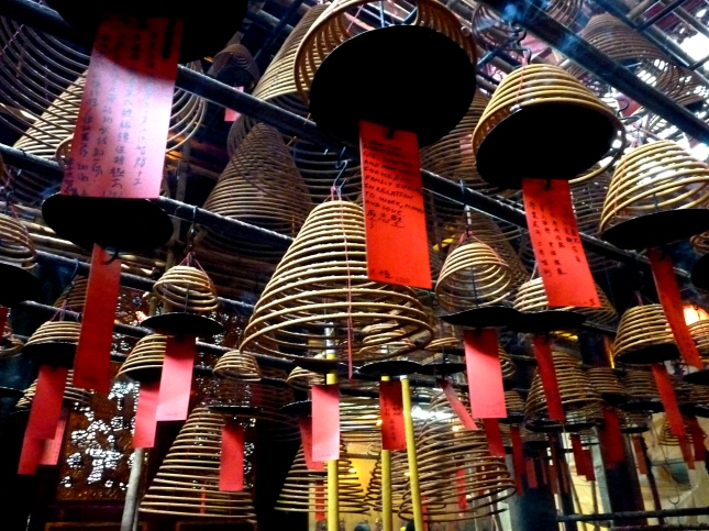 Incense coils in the Man Ma Temple - Hong Kong.