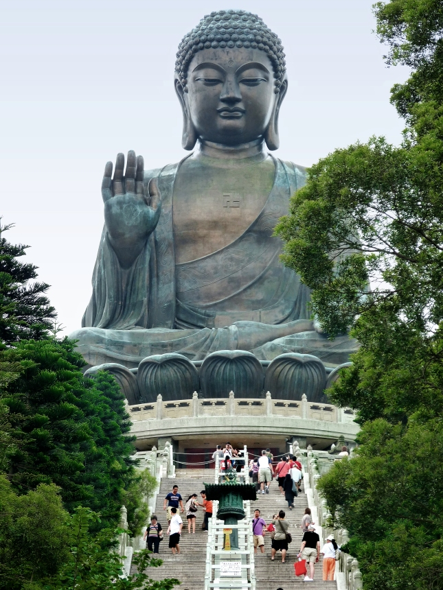 The giant Buddha on Lantau Island.