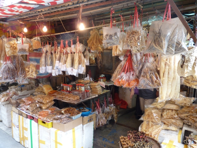 Dried fisk stalls in Tai O.