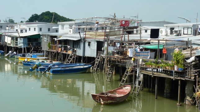 Riverfront fishermens stilt house in Tai O.