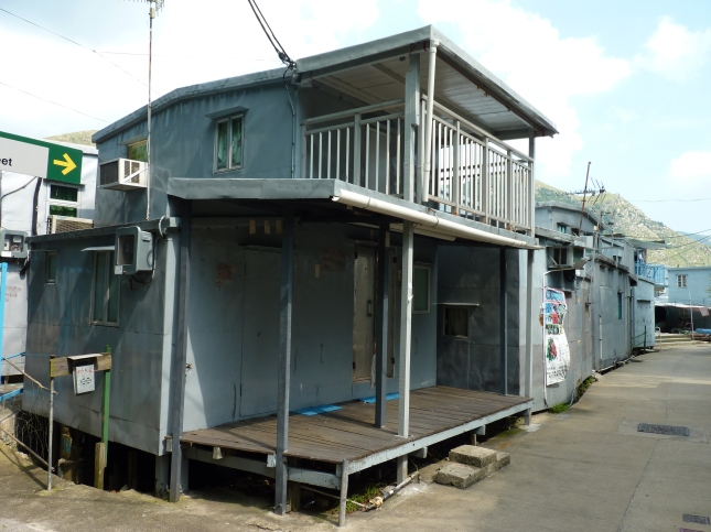 Metal stilted house in Tai O.