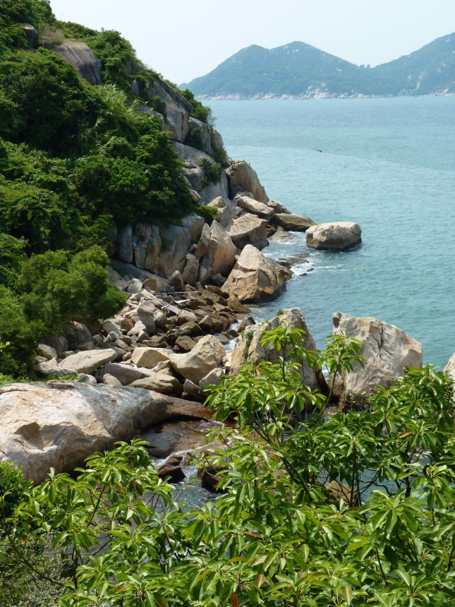 Cheung Chau Islands coastline.