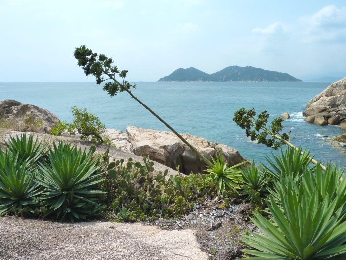 Cheung Chau Islands coastline.