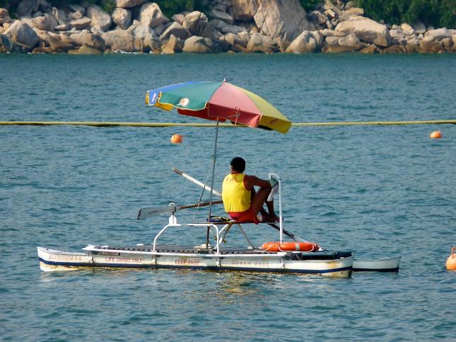 Lifeguard at Tung Wan Beach.