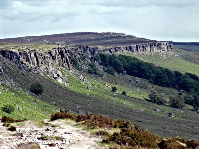 Looking South along the impressive Stanage Edge.