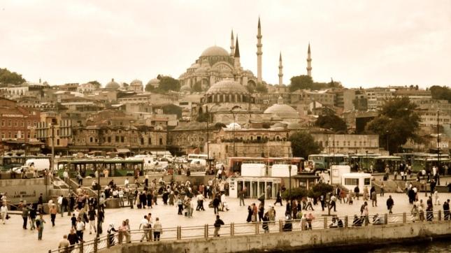 Eminönu from the Galata Bridge, Istanbul