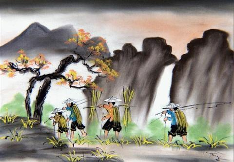 Vietnam_Art_Silk_Painting