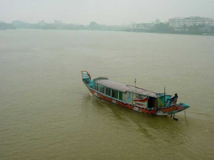 Dragon Boat back along The Perfume River