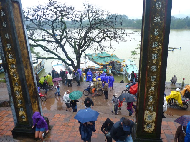 Steps of The Thien Mu Pagoda and Perfume River