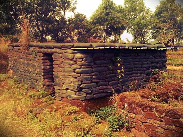 Sandbag bunkers at Khe Sanh Combat Base.