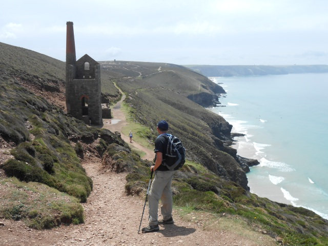 Remnants of Cornwall's industrial past with disused Tin Mines along the way
