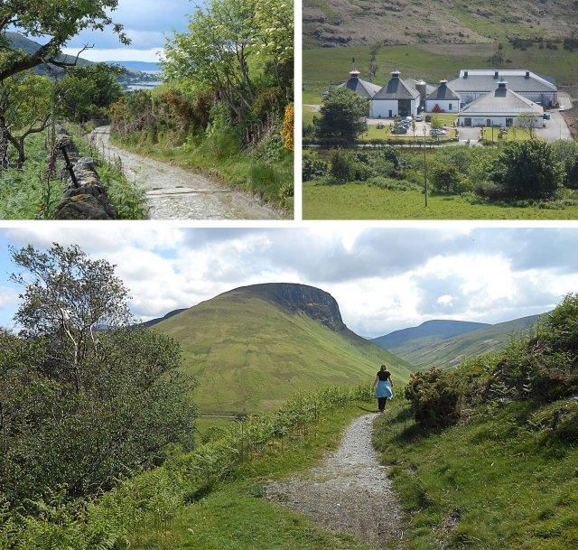 Lochranza - valley, sea and distillery - Isle of Arran
