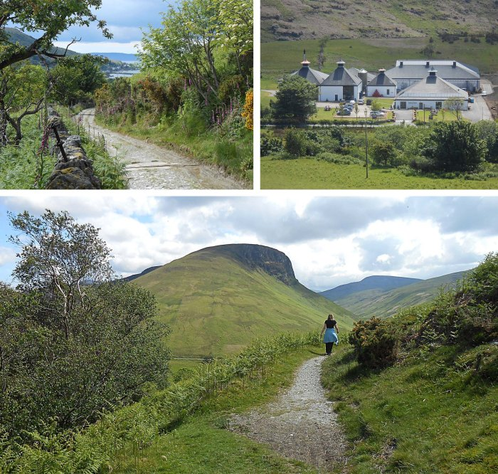Lochranza - valley, sea and distillery - Isle of Arran