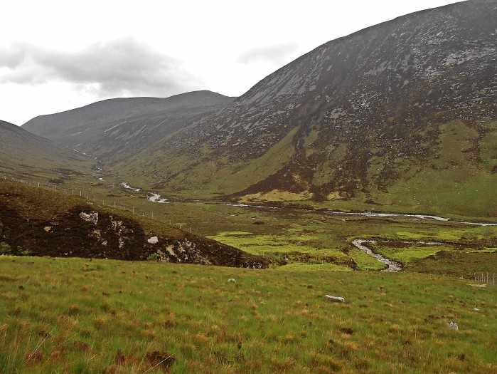 Looking down toward Glen Catacol from Gleann Dionhan National Nature Reserve
