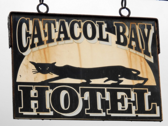 The Catacol Bay Hotel sign
