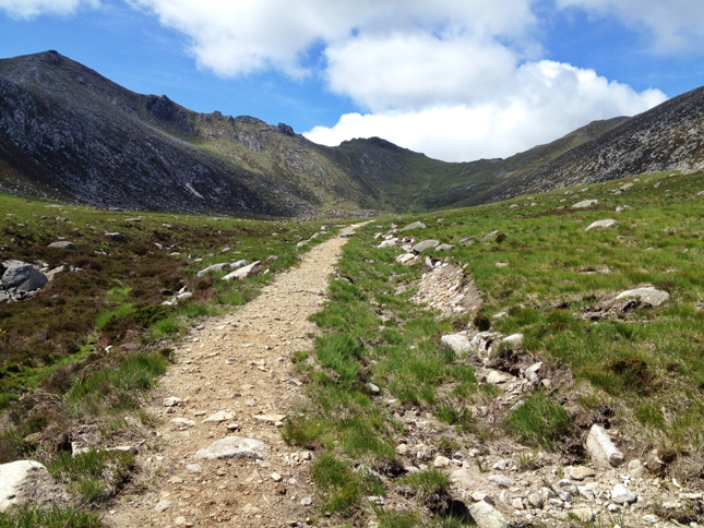 The exit path I took along Corrie Burn(the sun came out the moment I started to descend!)