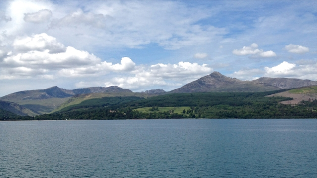 Goatfell seen when arriving by ferry into Brodick Bay