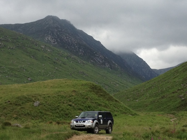 Leaving Glen Rosa and the first signs of civilisation