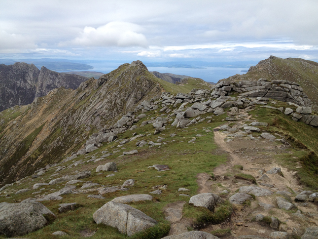 Along the ridge to North Goatfell