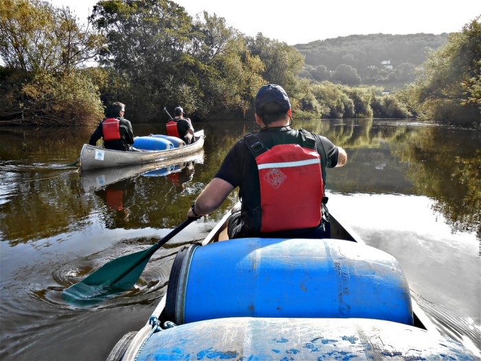 Canoeing along the River Wye