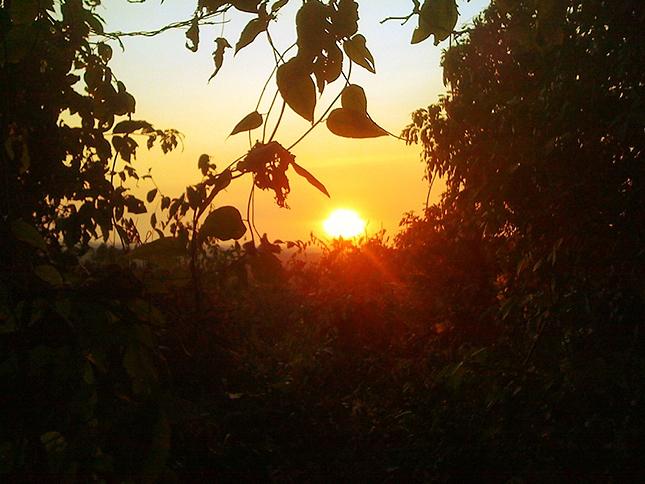 Sunset from Phnom Bakheng Temple, Cambodia