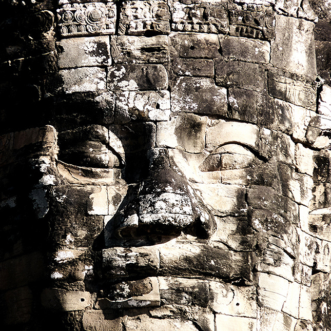 The famous faces of Angkor Thom
