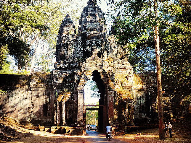 One of the cardinal gateway entrances to the citadel of Angkor Thom