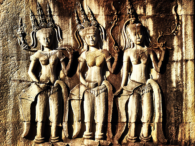 Bas relief - Unknown Temple, Ankgor Wat, Cambodia