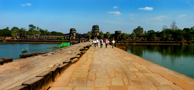 The famous temple of Angkor Wat