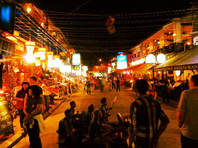 Bar Street downtown Siem Riep