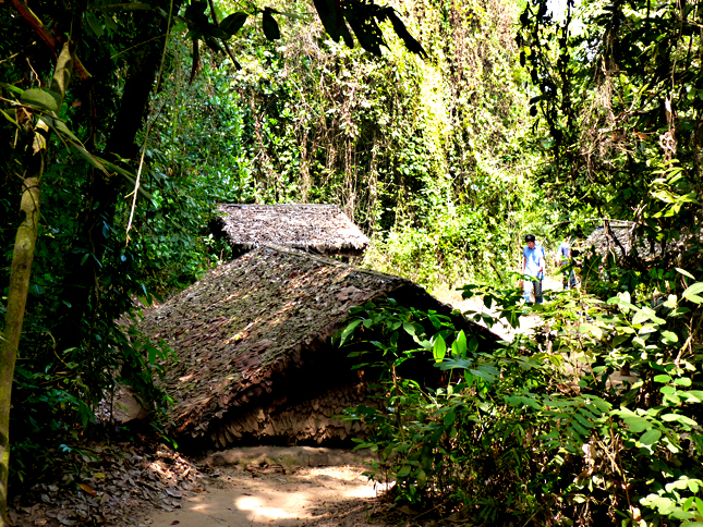 The jungle setting of the Cu Chi Tunnels