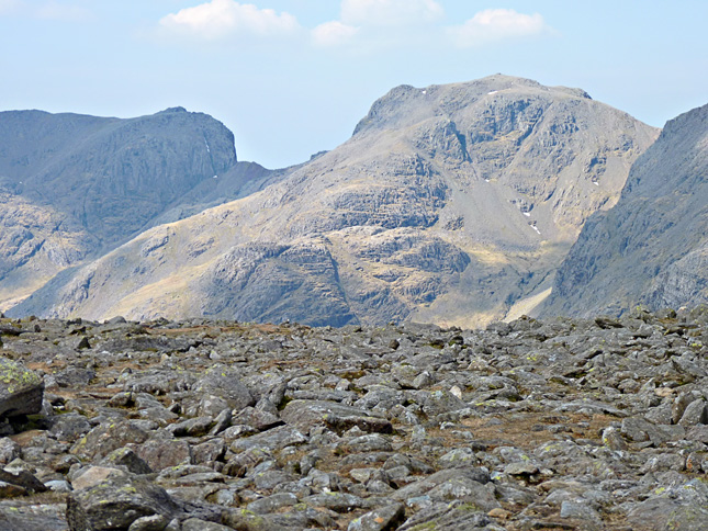 The Scafell Massif seen across from Bowfell
