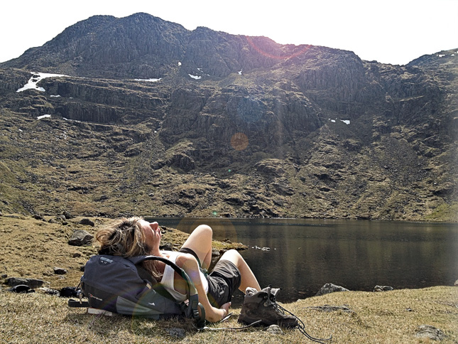 Relaxing at Angle Tarn