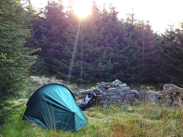 Wild camping in the Talybont Hills