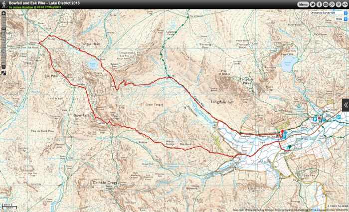 Langdale Route Map