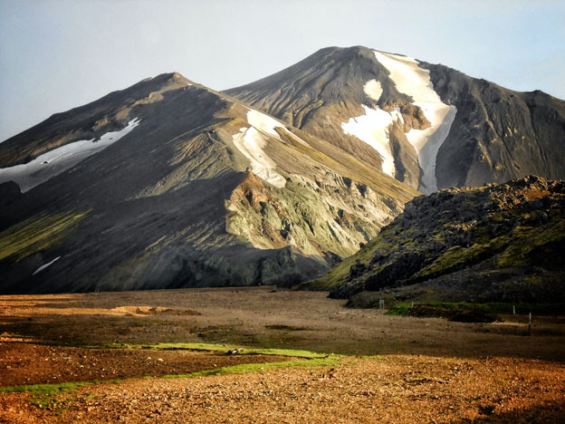 The mountains surrounding Landmannalauger