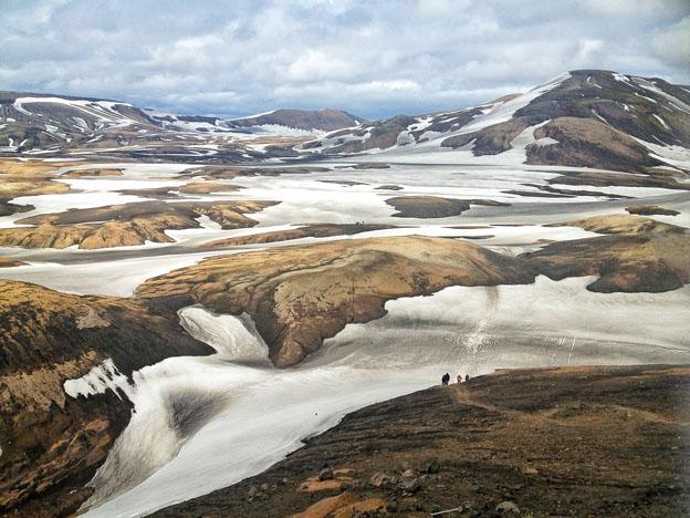 The epic landscape beyond the Hrafntinnusker Hut