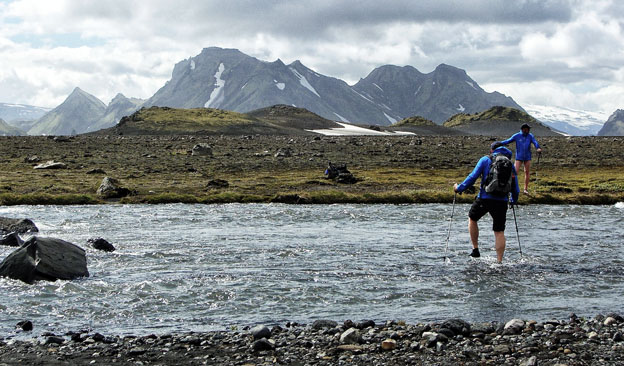 Epic glacial river crossing